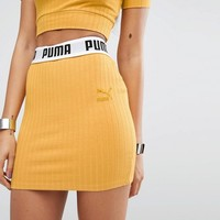 Puma Exclusive To ASOS Ribbed Mini Skirt at asos.com