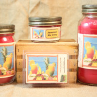 Jamaica Me Crazy! Scented Candle, Jamaica Me Crazy! Scented Wax Tarts, 26 oz, 12 oz, 4 oz Jar Candles or 3.5 Clam Shell Wax Melts