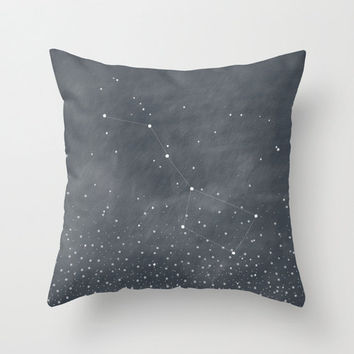 Ursa Major, Big Dipper Stars Dark Grey Blue Home Decor Throw Pillow Cover Decorative Pillow Cover Stars Decor
