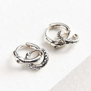 Luv Aj Double Serpent Huggie Hoop Earring Set | Urban Outfitters