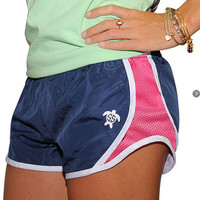Monogrammed Simply Southern Pink and Navy Shorts