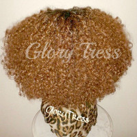 ON SALE // Solange Knowles Inspired Wig, Afro kinky Curly Lace Front Wig, Ombre Blonde wig // BEAUTY