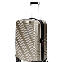 """SWISSGEAR 7788 20"""" EXPANDABLE HARDSIDE SPINNER LUGGAGE - CHAMPAGNE"""