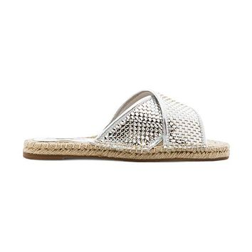 SOLES Regatta Sandal in Metallic Silver