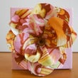 Fabric Flower Wall Hanging Pink and Orange 4 x 4 by Acires on Etsy