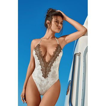 Notorious Swimwear TERRA Embroidered Lace One Piece Swimwear Swimsuit