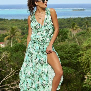 Malai Swimwear Palmetto Maxi Cover Up - Fickie Kimono