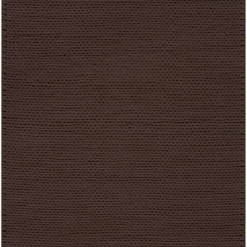 Fargo Collection 100% New Zealand Wool Braided Area Rug in Chocolate design by Surya