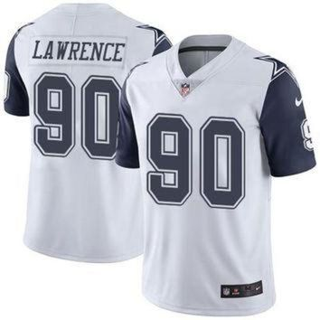 PEAP1N Dallas Cowboys #90 Demarcus Lawrence White Men's NFL Limited Rush Jersey