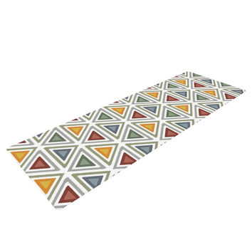 "Julia Grifol ""Ikat Triangles"" Multicolor Yoga Mat"