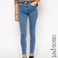 ASOS PETITE Ridley High Waist Ultra Skinny Jeans In Forever Wash