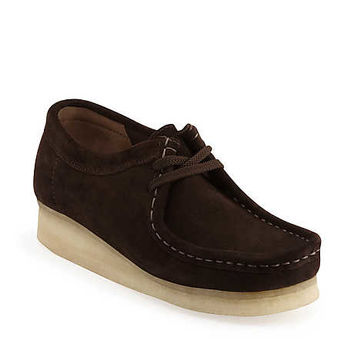 Wallabee-Women in Chocolate Suede - Womens Shoes from Clarks