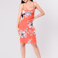 Cool It Now Dress - Red