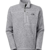 The North Face Gordon Lyons Quarter Zip Pullover in High Rise Grey Heather for Men CUA8-A8Q