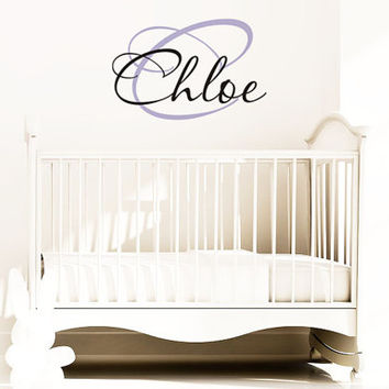 Children Wall Decals - Name Wall Decals - Boys Vinyl Wall Art - Custom Monogram Wall Decals Baby and Kids with Initial - Vinyl Decal