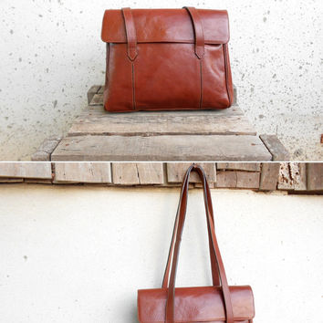 Vintage GAMAK PARIS Leather Tote Bag // Shoulder Bag // Made in France // Small