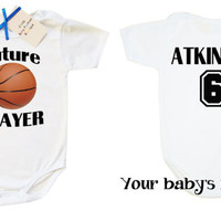 Future Basketball Player, Sport Baby clothes, Basketball baby clothes, baby boy basketball, sport baby, custom baby bodysuit