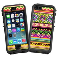 """Happy Bright Tribal """"Protective Decal Skin"""" for LifeProof nuud iPhone 5s Case"""