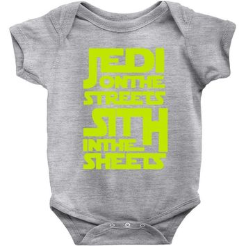 Jedi On The Streets Sith In The Sheets Baby Onesuit
