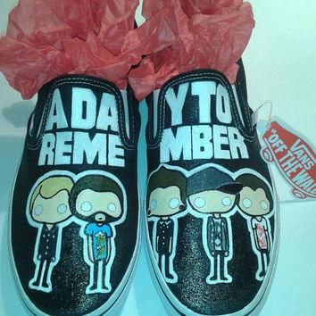 Custom Hand Painted A Day To Remember Shoes (NOT VANS BRAND)