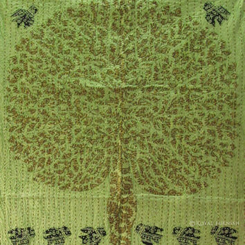 """36x57"""" Stunning TREE OF LIFE Wall hanging Patchwork Tapestry Indian Vintage Ethnic Decorative Art"""