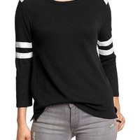 Women's Sleeve-Stripe Varsity Tees