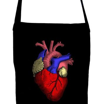 Anatomical Human Heart Crossbody Sling Bag Medical Oddities
