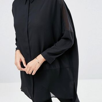 ASOS DESIGN soft long sleeve shirt in sheer and solid | ASOS