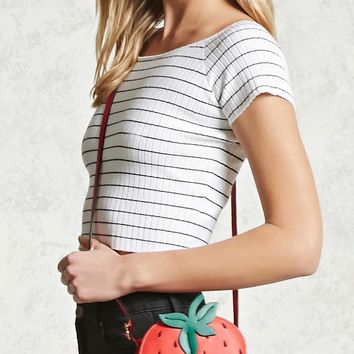 Textured Strawberry Crossbody