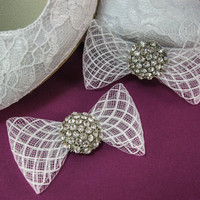Crystal Wedding Shoe Clips, Bridal Shoe Clips, Shoe Decorations, Rhinestone Shoe Clips, Shoe Embellishments, Shoe Brooches, Shoe Bow Clips