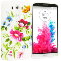 Flower Painting TPU Design Soft Case Cover for LG G3