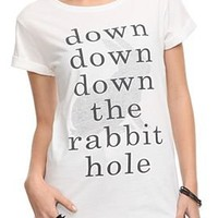 Once Upon A Time Rabbit Hole Girls T-Shirt Plus Size - 182168