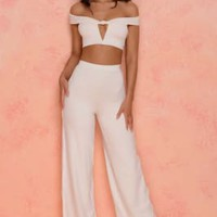 Petite Low Key Wide Leg Two Piece Set