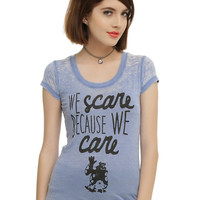 Disney Monsters, Inc. We Scare Because We Care Girls T-Shirt