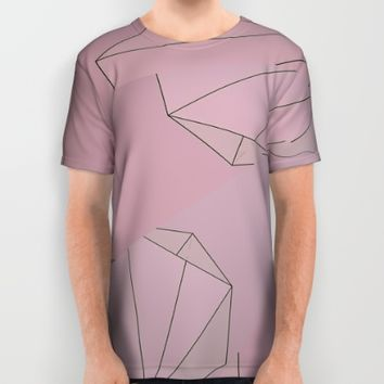 Shapes Shifted All Over Print Shirt by Ducky B