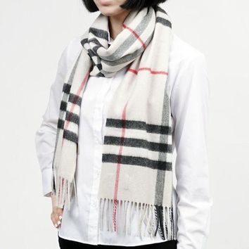 PEAPON New Authentic BURBERRY Scarf 3954673-stone Women's