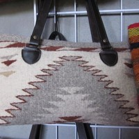 Handwoven purse- tan wool
