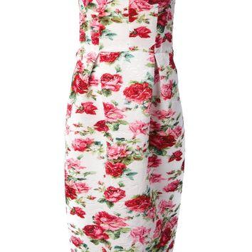 Antonio Marras Floral Bustier Dress