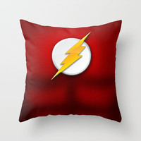 DC Comics Series - Flash Suit Throw Pillow by RobozCapoz