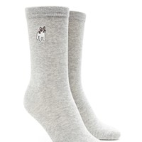 French Bulldog Crew Socks