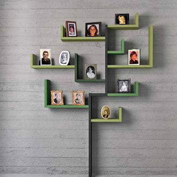 wall-shelving-units-family-tree - reviewing interior house design on homeinteriorsite.com