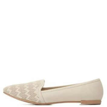 Perforated Smoking Slipper Loafers by Charlotte Russe