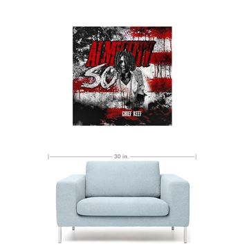 "Chief Keef - Almighty So Mixtape Cover 20"" x 20"" Premium Canvas Gallery Wrap Home Wall Art Print"