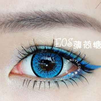 EOS New Adult Blue Colored Contact Lenses Circle Lens | EyeCandys.com