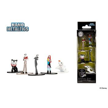 Jada Nano Figures Nightmare Before Christmas 5 Pack Jack Skellington Sally Pajama Jack Zero Scary Teddy