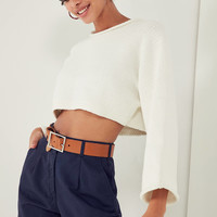 Silence + Noise Roll-Neck Cropped Sweater   Urban Outfitters