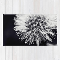 Dandelion Dream Area & Throw Rug by Ia Loredana | Society6