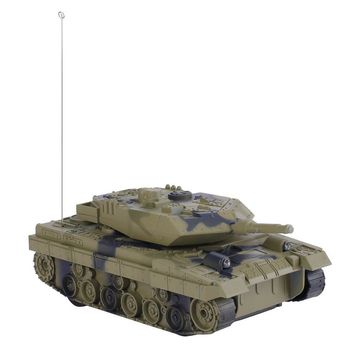 1:24 4CH Electric Remote Control Tank Fighting Vehicles Battle Tanks Turret Rotation Light & Music RC Model Kids Toy Gift