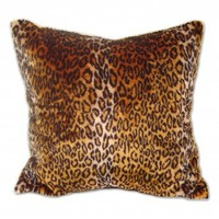 Wake Up Frankie - Faux Fur Animal Print Euro Sham - Brown Leopard : Teen Bedding, Pink Bedding, Dorm Bedding, Teen Comforters
