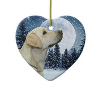 Yellow Lab Christmas Tree Ornament from Zazzle.com